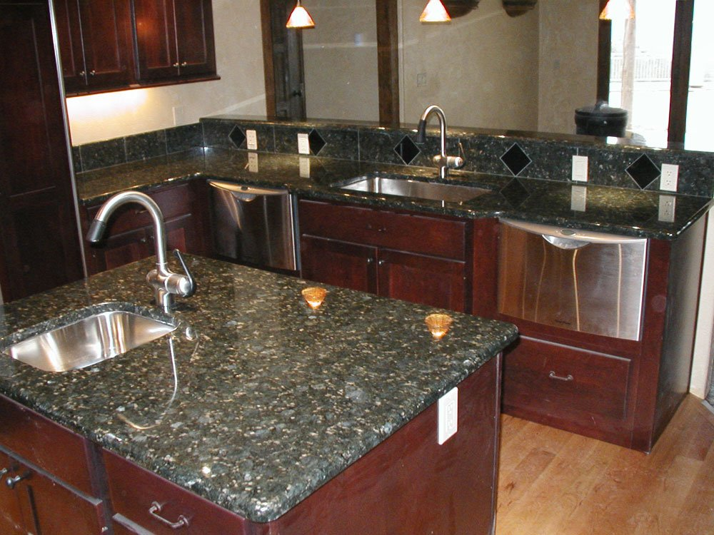 Natural Walnut Kitchen Island In Summit New Jersey: Kitchen Countertops Sioux Falls And Colorado Springs